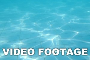 Pool floor with waving shiny water