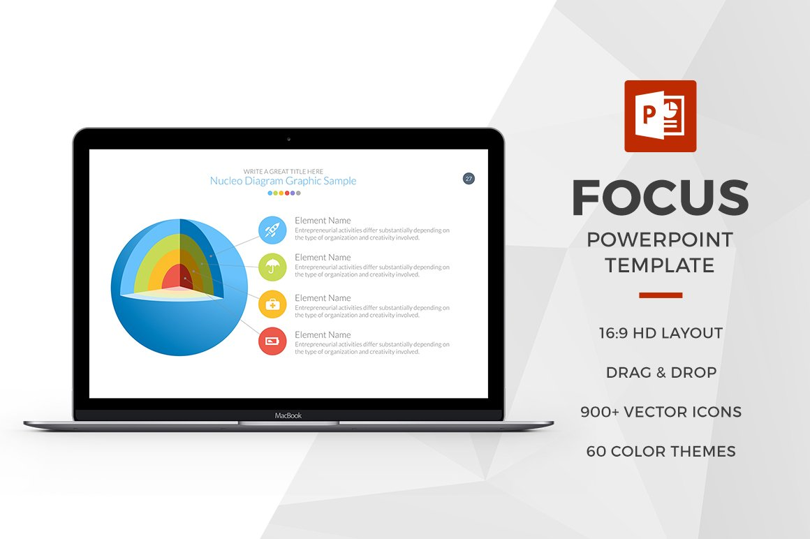 Focus powerpoint template presentation templates creative market toneelgroepblik Images