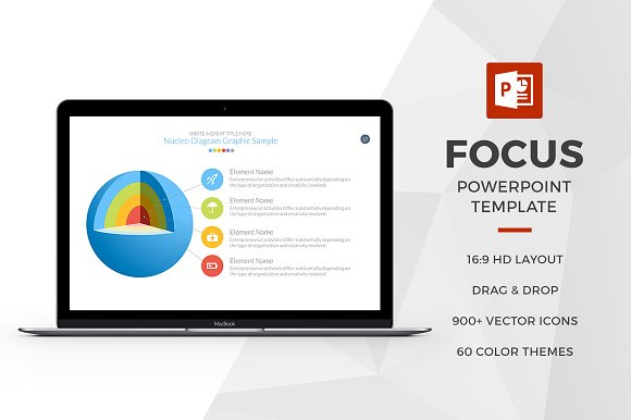 Focus Powerpoint Template Presentation Templates Creative Market