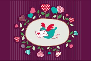 "Vector illustration ""Love letter"""