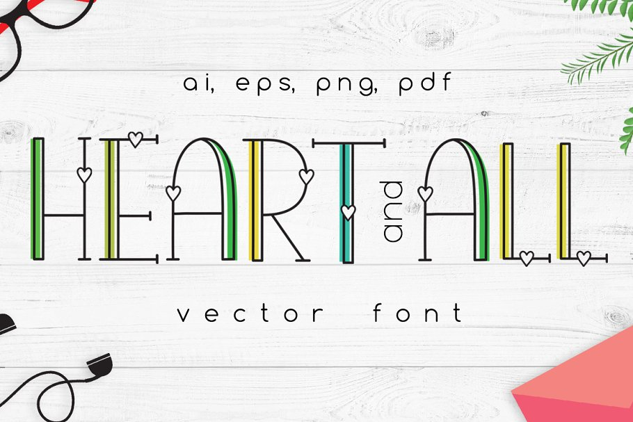 Heart and all Vector Font
