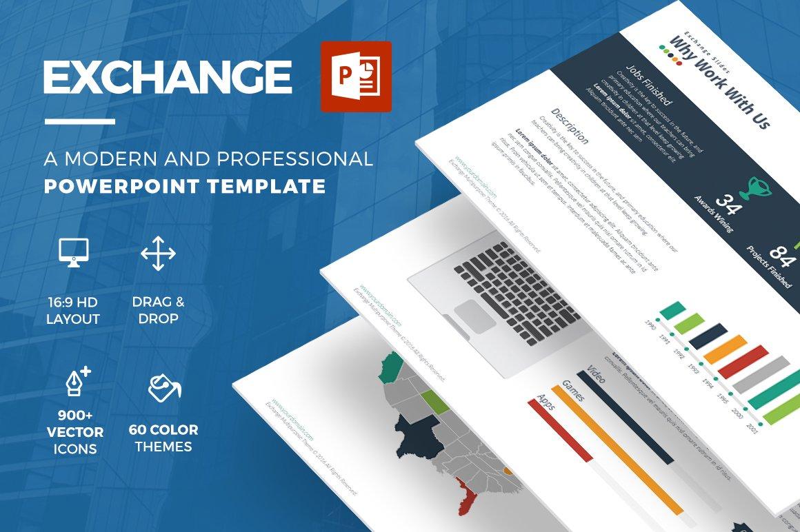 Exchange powerpoint template presentation templates creative market toneelgroepblik Image collections