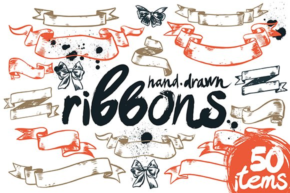 Vector Ribbons collection (50 items)