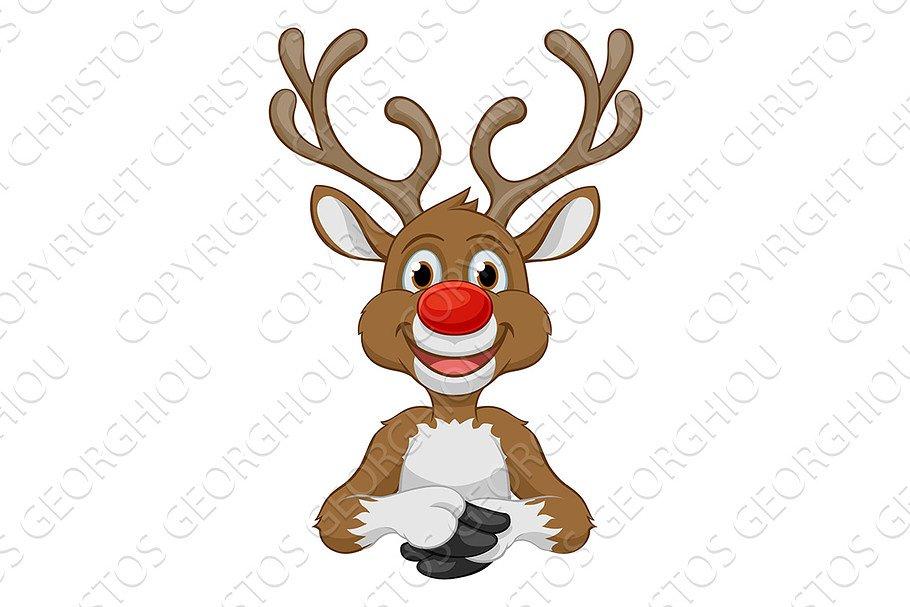 Christmas Reindeer Cartoon Character Pre Designed Photoshop Graphics Creative Market