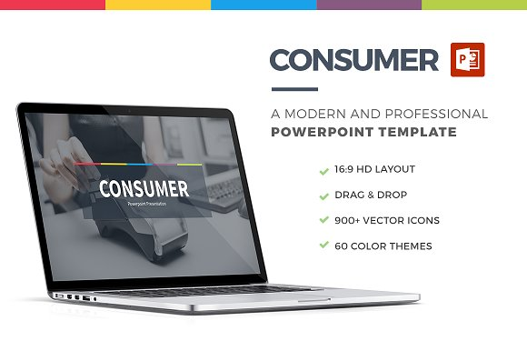 Consumer Powerpoint Template Presentation Templates Creative Market