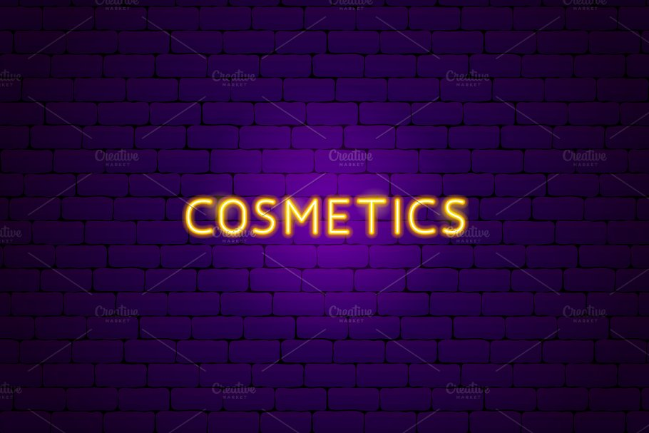 Beauty Cosmetics Neon in Neon Icons - product preview 7