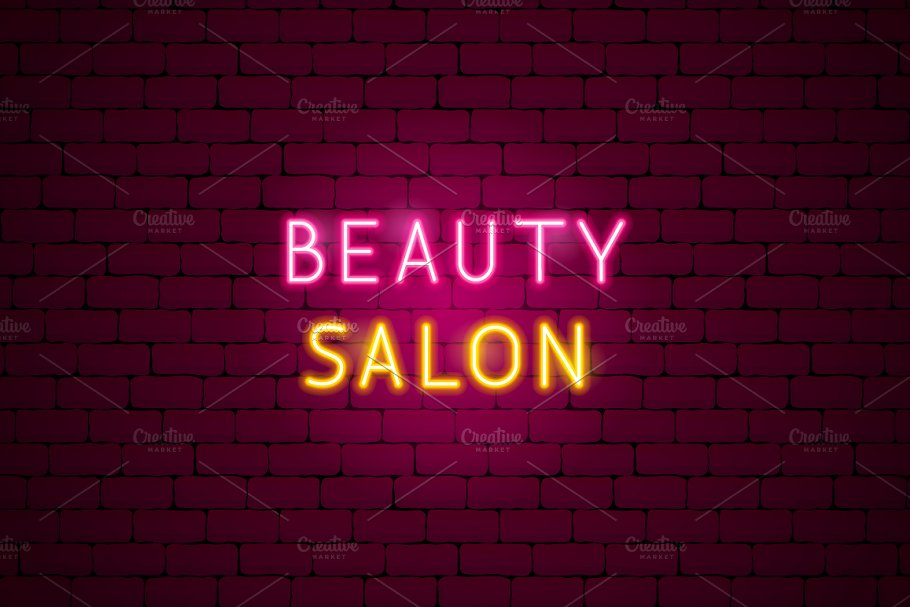 Beauty Cosmetics Neon in Neon Icons - product preview 9