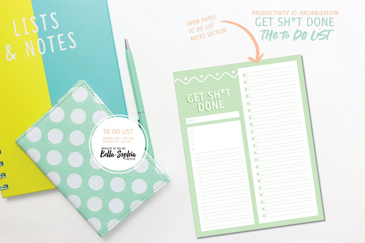 Editable - Get Sh*t Done To Do List