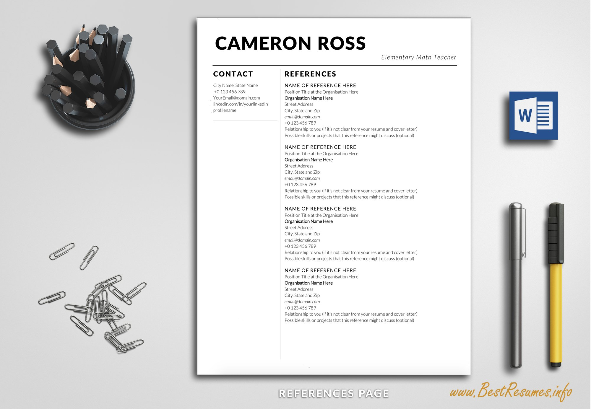 Teacher Resume Template For Word Creative Daddy