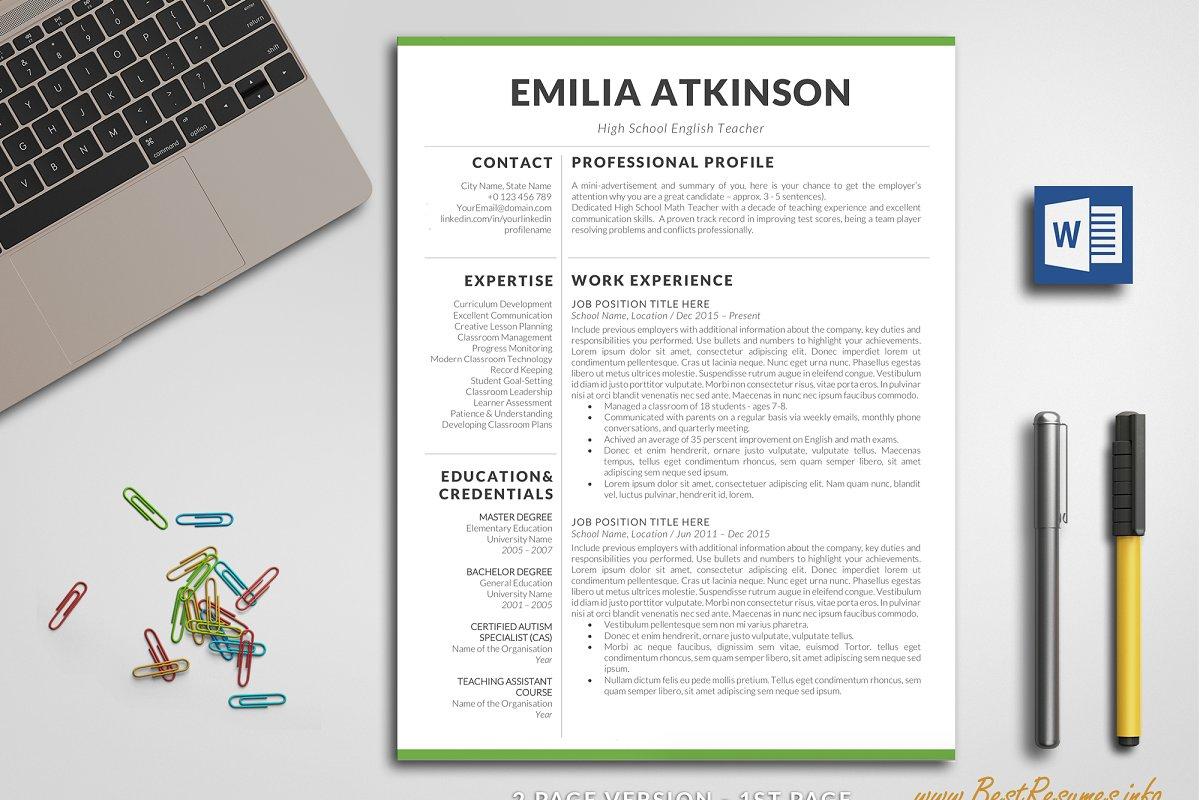 Professional Resume Word / CV Word ~ Resume Templates ...