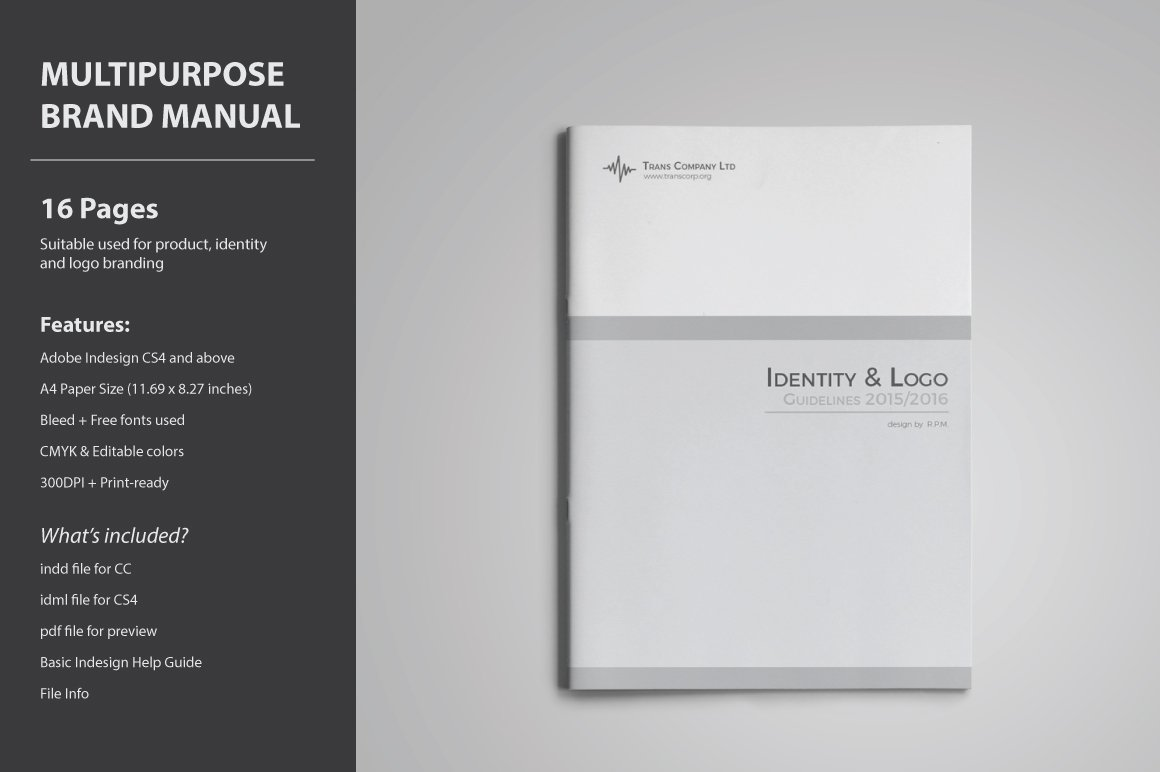 Brand Guidelines Template ~ Brochure Templates ~ Creative Market