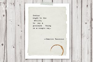 Typewriter quote printable art