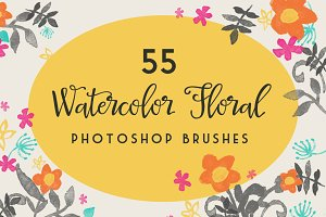 Watercolor Floral Photoshop Brushes