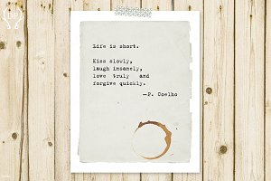 Typewriter quote Coelho print art