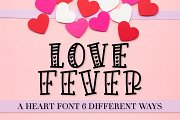 Love Fever - Hearty Font Trio