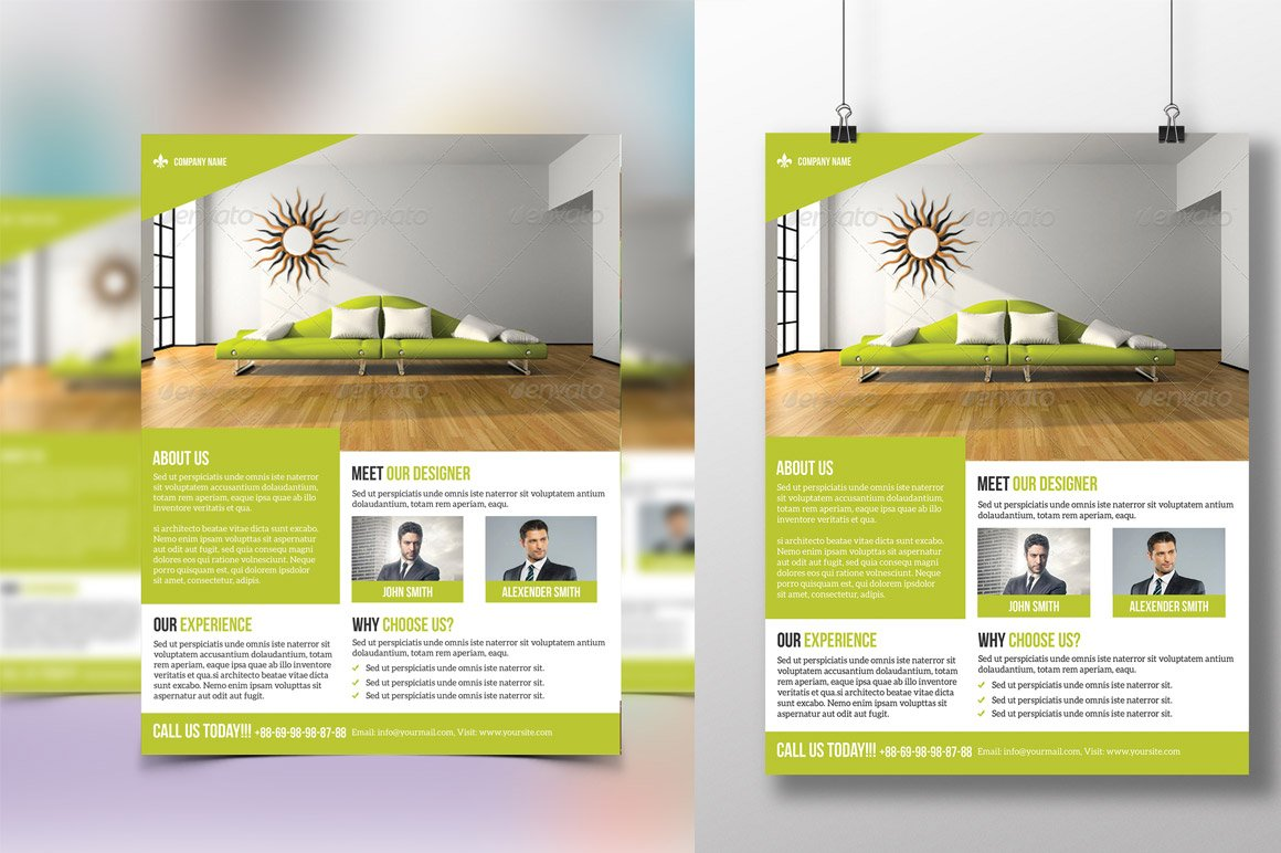 Interior flyer flyer templates creative market - How to take interior photos for real estate ...