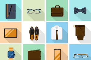 Businessman clothes and gadgets