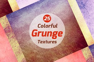 25 Colorful grunge textures