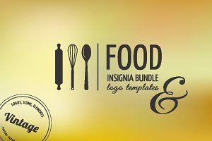 Food Icons / Logo / Badge / Insignia