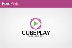 Cube Play Logo Template