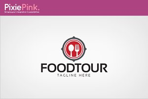Food Tour Logo Template