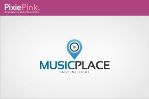 Music Place Logo Template