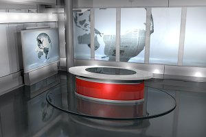 TV Studio in Grey Style