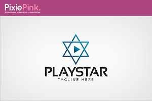 Play Star Logo Template