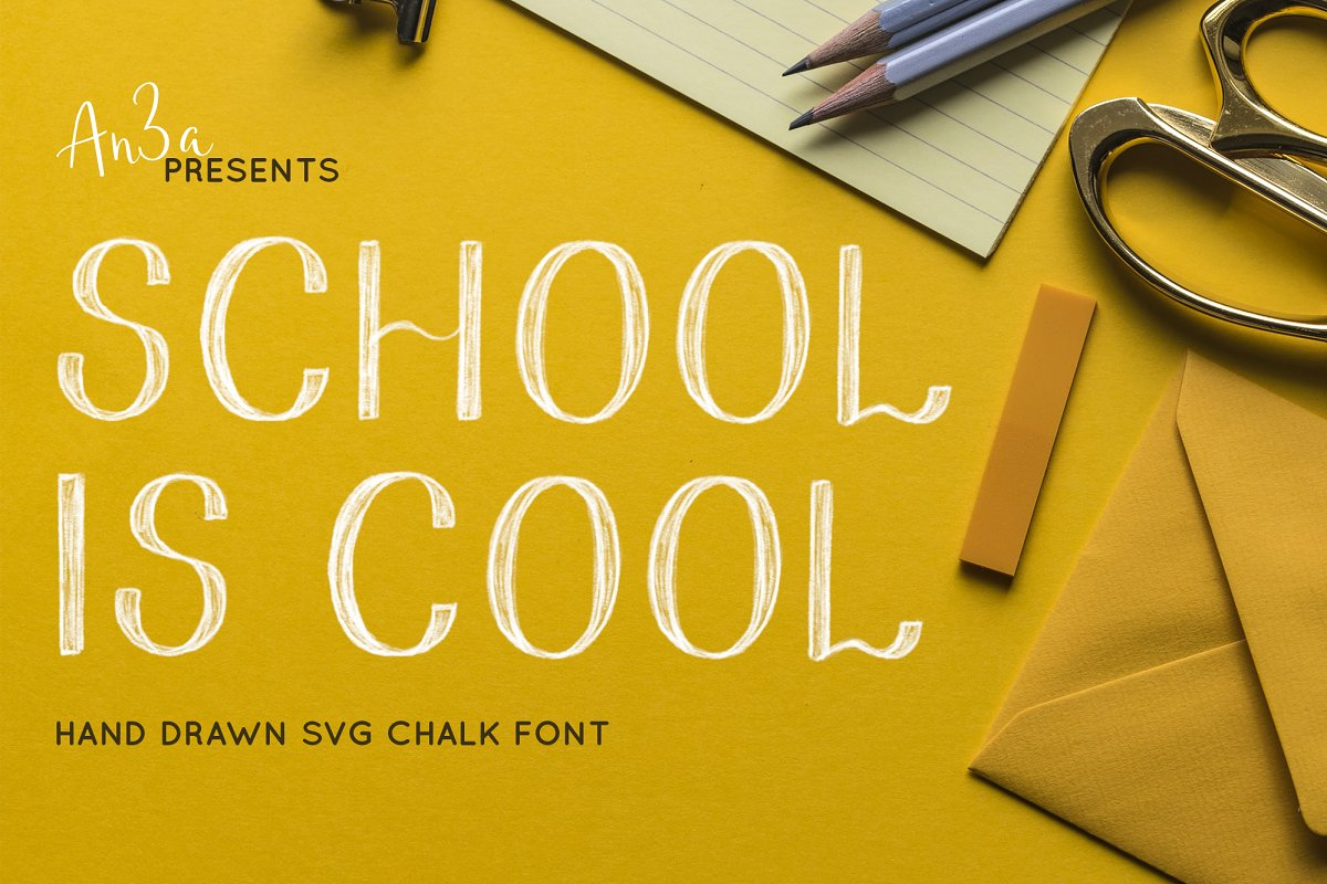 School SVG & solid vector font