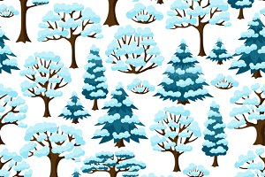 Winter patterns with trees.