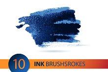 Vector ink  brushstroke set