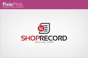 Shop Record Logo Template