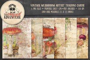 Vintage Mushroom ATC