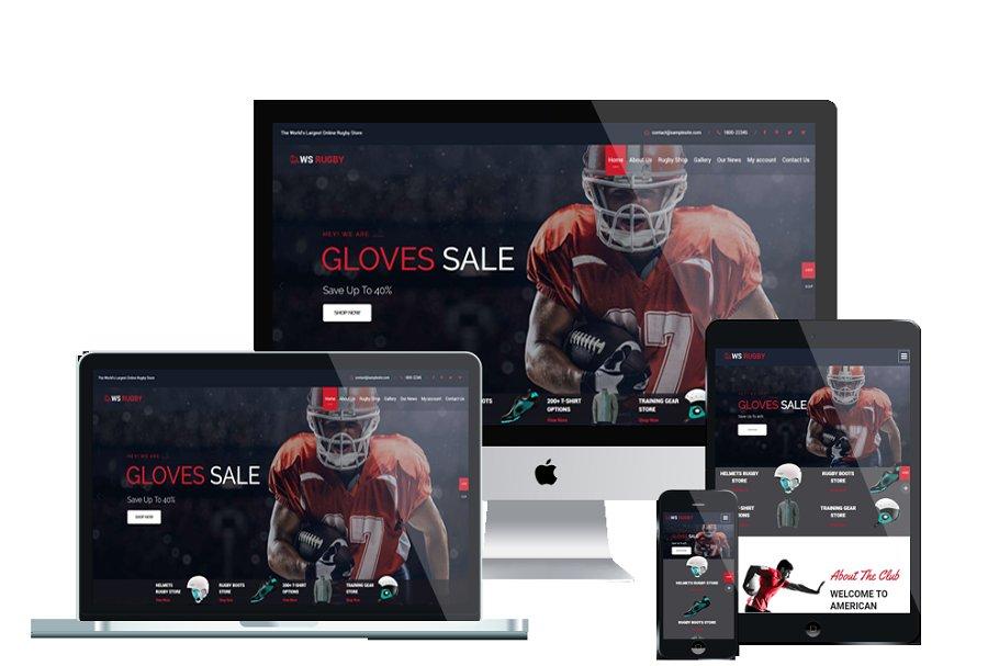 WS Rugby WordPress Football theme