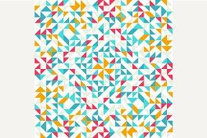 Seamless geometric, vintage pattern.