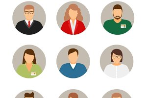Businesspeople avatars