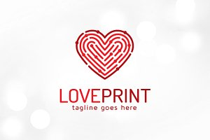 Love Print - Fingerprint Love Logo