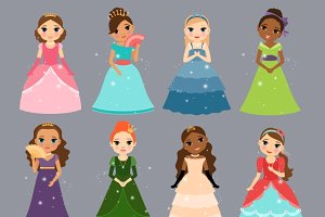 Beautiful princesses.