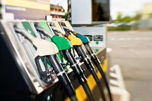 Fuel pump at Petrol Station