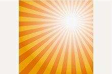 Sun Sunburst Pattern.