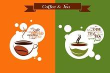 2 Coffee & Tea vector designs