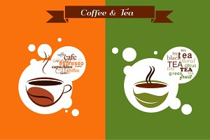 2 Coffee & Tea vector designs