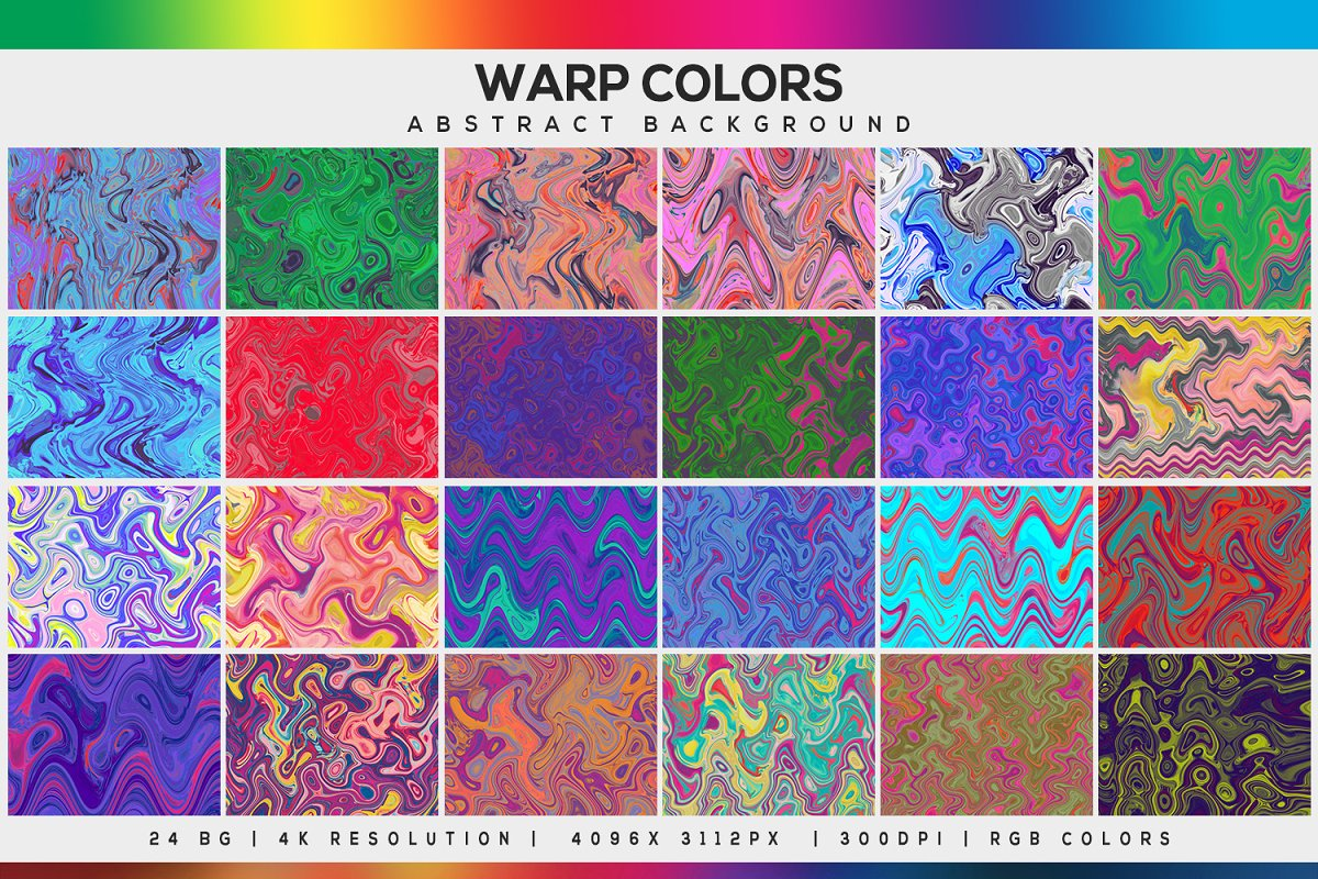 Warp Colors Abstract Background