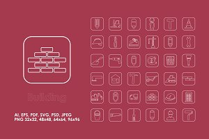 36 building simple icons