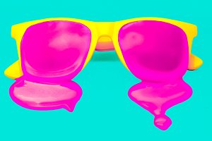 yellow hipster sunglasses