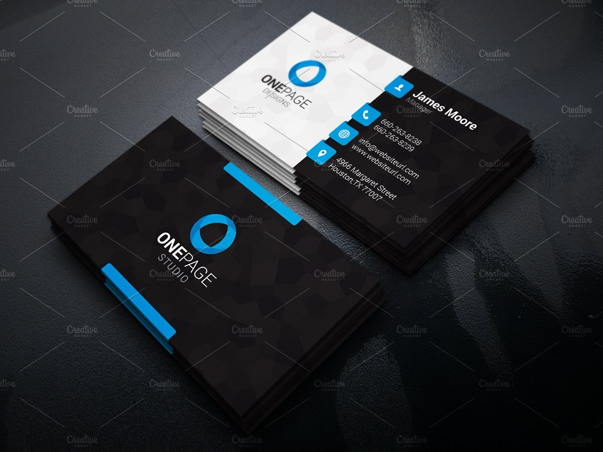 Cool business card templates business card design for Free modern business card templates
