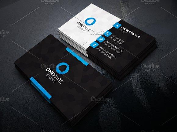 creative business card business card templates creative market. Black Bedroom Furniture Sets. Home Design Ideas