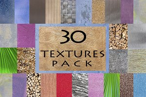 30 Textures and Backgrounds Pack
