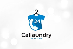 Call Laundry Logo Template