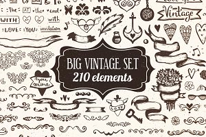 210 elements - Big Vintage Set